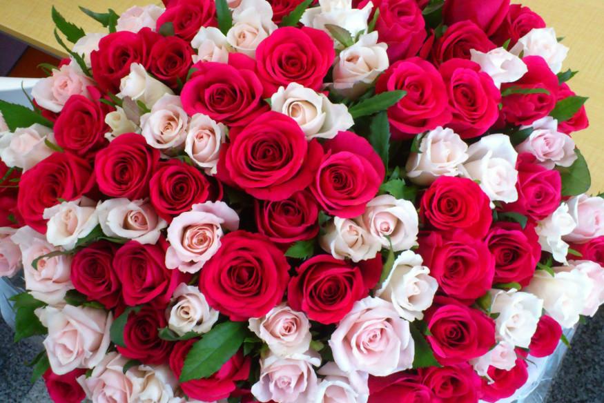 С днем рождения огромный букет цветов
