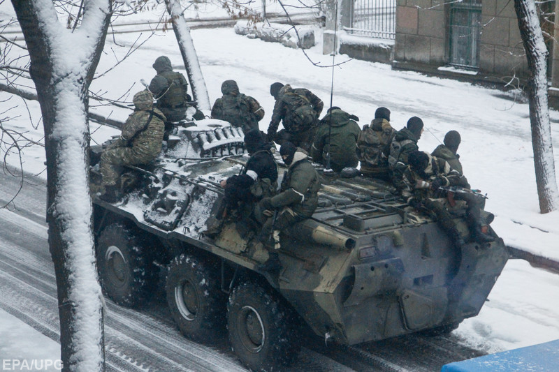 Armed tension in pro-Russian rebels controlled Luhansk city