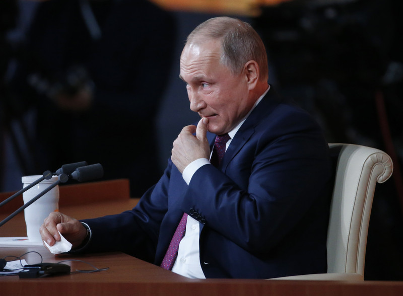 Russian President Vladimir Putin's annual news conference in Moscow